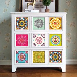 $enCountryForm.capitalKeyWord UK - Color Flower Pattern Furniture Sticker PVC Removable Tile Wall Sticker DIY Kitchen Oil Proof Waterproof Self Adhesive Stickers