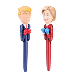 Fighting Australia - Fun Toy Pen 2020 The Candidate Trump Hillary Toy Boxing Decompression Pen With Writing And Sound To Fight America President Smart A42603