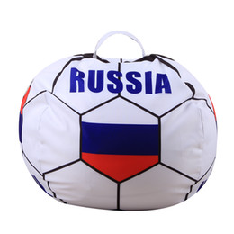 $enCountryForm.capitalKeyWord UK - NEW Russia World Cup Storage Stuffed Bean Bag 26inch US Chair Portable Kids Toy Storage Bag Polyester Play Mat Clothes Home Organizer