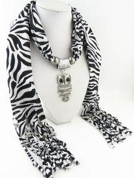 $enCountryForm.capitalKeyWord Australia - Leopard Scarf Female Animal Print Scarves Owl zebra-stripe Alloy Pendant Scarf Fashion Echarpe Mujer Bufanda Necklace scarves for women