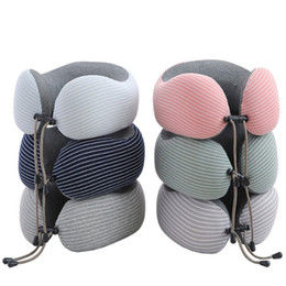 travel neck massage pillow NZ - Memory Foam Neck Pillow Travel Pillow With Detachable Cover Head Support Soft Pillow for Airplane Car Home Sleep Rest