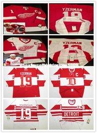 5984a211a Red Wing Jersey Yzerman UK - Cheap custom STEVE YZERMAN DETROIT RED WINGS  VINTAGE CCM RED