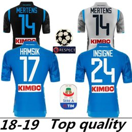 b1811695f 2019 Napoli Home Blue Soccer Jersey 18 19 Naples Away Soccer Shirt 2018  Customized  14 MERTENS  17 HAMSIK  24 INSIGNE 3rd Football Uniform