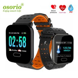 smart watch running Canada - New A6 Wristband Smart Watch Touch Screen IP67 Water Resistant Smartwatch with Heart Rate Smart Bracelet Monitor Sport Running Watch