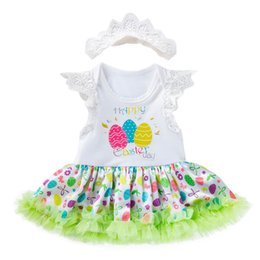 76077b2408fb Easter baby girl clothes Baby Dress Romper Newborn Romper Infant Jumpsuit  Lace tutu skirts princess Baby Rompers +crown headband 2pcs A3300