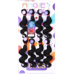 kinky hair extension factory NZ - blended 8pcs Kinky curly hair extension mongolian human curly mix synthetic braiding hair crochet braids jerry curl hair for marley factory