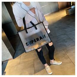 $enCountryForm.capitalKeyWord NZ - Big Capacity Transparent Scrub Pvc Letters Handbags Women's Shoulder Bags Ladies Clear Jelly Hand Bags Woman Summer Beach Totes