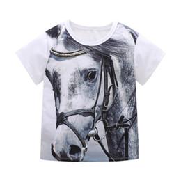 $enCountryForm.capitalKeyWord UK - 1-7Y Kid Boy Top White Baby Girl T-shirt Kids Summer Clothes Cotton Clothing Boy T Shirts Cartoon Animal Horse Toddler Boys