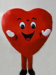 Halloween Costumes Mascots Australia - New Profession Red Heart Mascot Mascot Costumes Halloween Cartoon Adult Fancy Party Dress free shipping