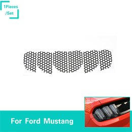 mustang accessories Australia - Wild Horse Tail Light Stickers Honeycomb 1Pcs Black Decoration Fit Ford Mustang 2015-2016 Car Exterior Accessories