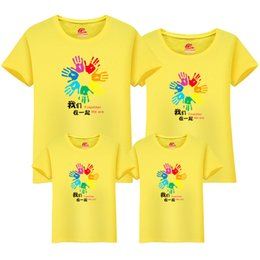 $enCountryForm.capitalKeyWord UK - New Arrived Mother Baby Daughter Family Matching Outfits Clothes Handprint Cotton Casual Tops Summer Short Sleeve Lovers Couple t shirts