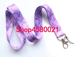 $enCountryForm.capitalKeyWord Australia - 10pcs zebra Butterfly pattern Neck Strap purple Lanyards key Chains ID Card Mobile Phone Strap USB Badge Holder Rope Pendant