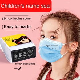 named clothing Canada - Children's Learning Kindergarten Mask Waterproof Non-fading Baby Clothes School Uniform Seal Name Press Stamp Artifact