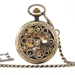 Glass Magnifier Gold Australia - Restore Ancient Ways Renovate Magnifier Rome Antique Gift Carving Mechanics Will Pocket Watch Necklace Weight Gauge