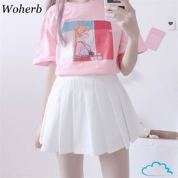 moon printed tee Australia - Kawaii Japanese Summer T Shirt Women 2019 Harajuku T-shirts Print Sailor Moon Cartoon tops Tee Shirt Haut Femme 20165