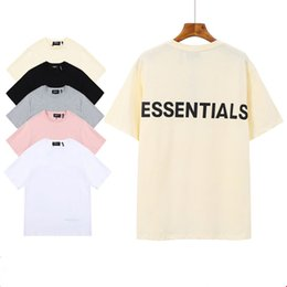 Wholesale tshirt black resale online - Mens Tshirt M Reflective Essentials Letter Short Sleeve Round Neck Fashion Solid Tshirt with Colors Asian Size S XL