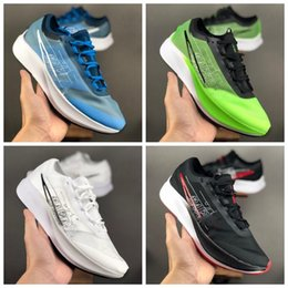 pegasus running shoes Canada - New Zoom Fly 3 Rise Gold Electric Green white Black pegasus 36 Mens Running Shoes for men sports Designer Sneakers Trainers Size 40-45