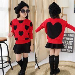 $enCountryForm.capitalKeyWord Australia - 2019 new explosion models girls sweater female big children autumn sweater knit round bat shirt