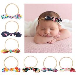 $enCountryForm.capitalKeyWord Australia - Maxi Children's hair band baby colorful printed bow hair band elastic headbands, lovely photo props for kids, christmas gift, birthday gift