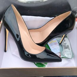 40b09b46d79e Autumn High-heeled Slim-heeled Shoes 2019 New Naked Fashion Baitie Shoes  Female Autumn Sexy Lacquer Tip Single Shoes Female