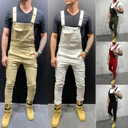 $enCountryForm.capitalKeyWord Australia - Fashion Men Denim Jumpsuit Skinny jeans Romper Jumpsuit Pant Destroyed Jeans Ripped Pants Frayed Slim Fit Pant Long
