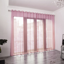 red exterior doors 2019 - Modern Cute Curtain Flash Line Shiny Tassel String Door Window Room Valance Home Decoration rideaux pour le salon cheap