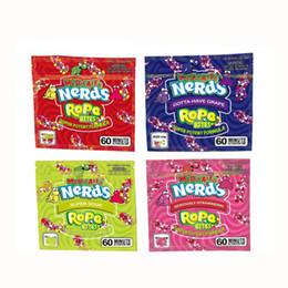 Gıda paketi folyo kare Medicated Nerds Halat Alıntılar şeker ambalajlama torbası İnekler Halat şeker Nerdsrope sGummy torba üç kenar sızdırmazlık torba