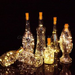 Wholesale 10 LED Solar Wine Bottle Cork Shaped String Lights Night Fairy Christmas Fairy Light Outdoor Garland Strings