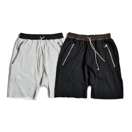 Discount justin bieber clothing style - 2019 men hip hop casual shorts summer kanye style clothing loose sports black grey shorts justin bieber harem fear of go