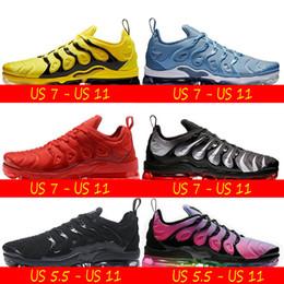 rainbow shoes summer 2019 - Cushion VPM TN Plus Running Shoes Sunset Grape In USA Red Rainbow Silver Black Triples White Mens Womens Designer Sneake
