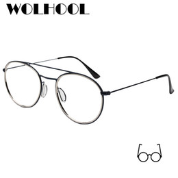 e6e9b1e4158 2019 New Brand Designer Round Glasses Frames Women Spectacle Frame Clear  Lens Korean Optical Pilot Glasses Men Oculos