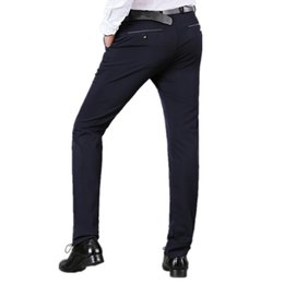 Fly Business UK - Business Formal Pants For Men Office Trousers Brand Male Casual Straight Perfume Masculino Mens Wedding Solid Dress Suit Pants