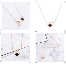 variety roses UK - Creative titanium steel variety love necklace female, life lock love rose gold collarbone chain, a multi-chain jewelry wholesale
