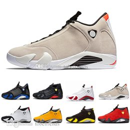light up shots Australia - Cheap 14 Men Basketball Shoes Varsity Royal Candy Cane Desert Sand the Last Shot Red Suede Light Graphite Grey 14s Sneakers 40-47