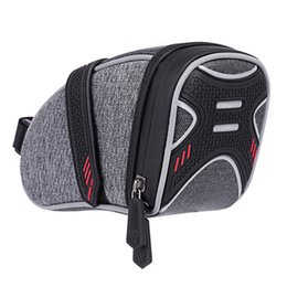 Safety Handles NZ - Portable Bicycle Saddle Bags Panniers Tube Rear Tail Bag Safety Night Riding Reflective Bike Accessories Cycling Bike Bags