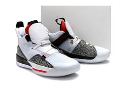 new product e899b 76f17 Imprimé léopard 33 New Colorway Blanc Noir Rouge Hommes Chaussures de  basketball de bonne qualité Designer Outdoor Hommes Sports Sneaker