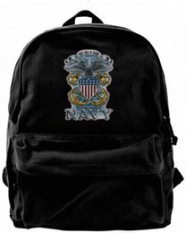 backpacks for college men Australia - Navy The Sea is Ours.United States Fashion Canvas designer backpack For Men & Women Teens College Travel Daypack Leisure bag Black