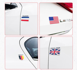 $enCountryForm.capitalKeyWord Australia - 3D 3M Metal stickers USA UK Gremany France Italy Australia National flag emblem DIY metal car Motorcycle motostickers body cover car Tail