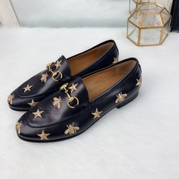 ladies driving shoes loafers 2020 - Brand Design Women Cow Leather Dress Wedding shoe Driving moccasins Loafer Fashion Woven Horsbit Single Shoe Flats Offic