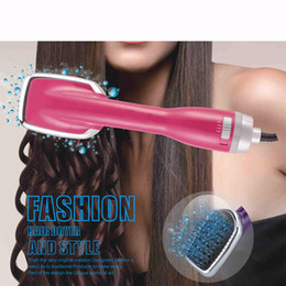 electric hair comb brush UK - 2 in 1 hair dryer brush electric blow multi-function dual-use hairdresser massage comb 2 colors homeuse styling tools