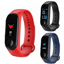 bracelet health wristband 2019 - Waterproof Sports Smart Bracelet Health Sleep Fitness Tracker Heart Rate Monitor Smart Wristband Pedometer Watch For iOS