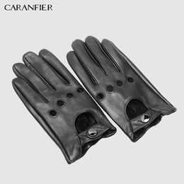 $enCountryForm.capitalKeyWord Australia - Fashion-CARANFIER Mens Genuine Sheepskin Leather Gloves Driving Car Motorcycle Bike Goatskin Touch Screen Mittens Breathable Male Gloves