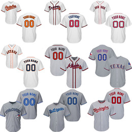353150681 Custom Baseball Jerseys Braves Atlanta Orioles Baltimore Red Sox Boston  Astros Houston Dodgers Los Angeles Rangers Texas Jays Toronto Blue