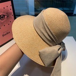 Vintage Male Hats Australia - Foldable Brand Straw Sun Hat For Women Men Unisex British Style Sunshade Beach Panama Jazz Top Hat Vintage Female Male 2019 Summer Vacation