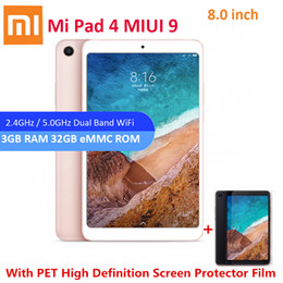 "Tablet 4.4 Bluetooth Inch Australia - Original Xiaomi Mi Pad 4 Tablet PC 8.0"" MIUI 9 Snapdragon 660 Octa Core 3G 32G 5.0MP 13.0MP Dual Cameras Dual WiFi Bluetooth 5.0"