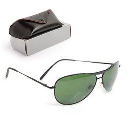 Glasses Sun Protection Australia - 10PCS Classic Brand Designer Sunglasses Glass lens Unisex UV400 protection sun glasses Man sunglasses 8015 Womans glasses ray with cases box
