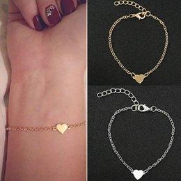 NS1 Heißer Verkauf Charming Heart BraceletsBangles Für Frauen Mädchen Gold Silber Farbe Metall Armbänder Erklärung Schmuck Großhandel