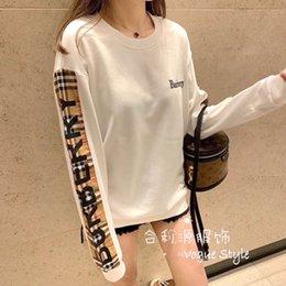 Wholesale korean female coats resale online – Hoodie women Korean version of fashion loose coat female students long sleeve T2020 new hoodie women fashion ins pullovers bottom blouse