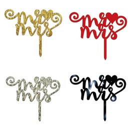$enCountryForm.capitalKeyWord Australia - Acrylic Mr & Mrs Cake Topper DIY Wedding Festival Party Decoration Cupcake Toppers Birthday Party Engagement Decor Supplies
