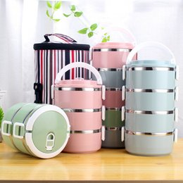 metal lunch boxed NZ - Lunch Boxes Japanese Thermal Lunch Box Leak-Proof Stainless Steel Bento Box Portable Picnic School Food Container Luchbox 1pc